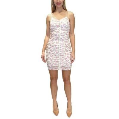 オールモストフェイマス レディース ワンピース トップス Juniors' Ruched Bodycon Dress