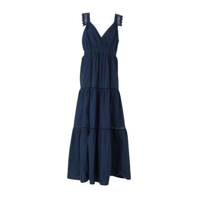 セミクチュール SEMICOUTURE ロングワンピース&ドレス ダークブルー 40 コットン ロングワンピース&ドレス