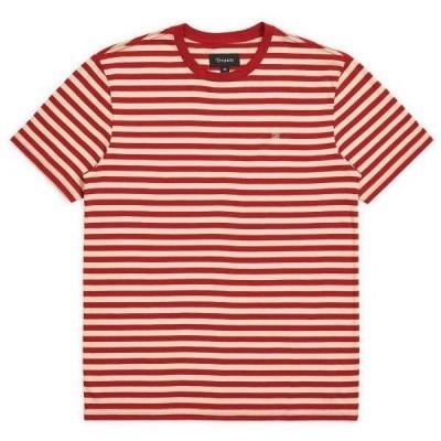 Brixton Hilt Mini Stripe T-Shirt Vanilla/Cardinal M Tシャツ 送料無料