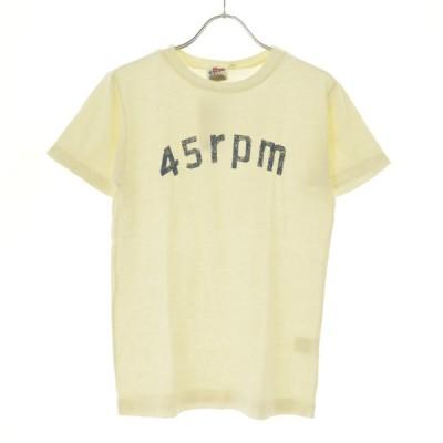【期間限定値下げ】45rpm / 45R / フォーティーファイブアールピーエム ロゴ 半袖Tシャツ