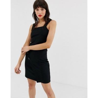リバーアイランド レディース ワンピース トップス River Island pinny dress in black
