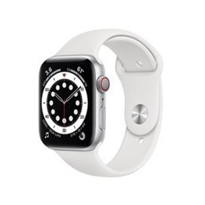 ★アップル / APPLE Apple Watch Series 6 GPS+Cellularモデル 44mm MG2C3J/A [ホワイトスポーツバンド]