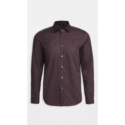 セオリー Theory メンズ シャツ トップス Irving Pixelate Print Shirt Dk Eggplant Multi