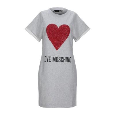 ラブ モスキーノ LOVE MOSCHINO ミニワンピース&ドレス グレー 38 コットン 92% / ポリウレタン 8% ミニワンピース&ドレス