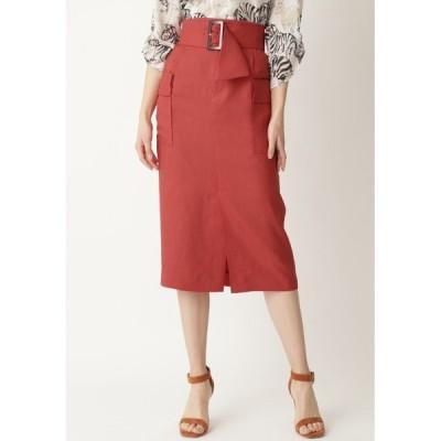スカート スラブツイルパッチポケットスカート