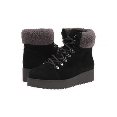 Sam Edelman サムエデルマン レディース 女性用 シューズ 靴 ブーツ レースアップブーツ Franc - Black Wr Velutto Suede Leather/Faux Fur