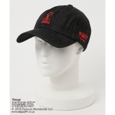 帽子 キャップ PEANUTS COLONEL WOOD STOCK DENIM BB CAP