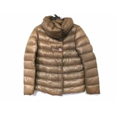ヘルノ HERNO ダウンジャケット サイズ42 M レディース - ブラウン 長袖/冬【中古】20201208