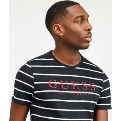 ゲス Guess メンズ Tシャツ トップス Division T-Shirt Black/White