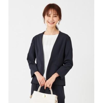 【エニィスィス/any SiS】 【洗える】ドライタッチエステル ノーカラー ジャケット