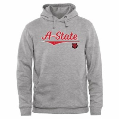Fanatics Branded ファナティクス ブランド スポーツ用品  Arkansas State Red Wolves Ash American Classic Pullover Hoodie