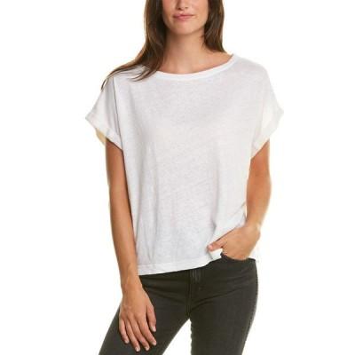 マイケルスターズ シャツ トップス レディース Michael Stars Corinne Boxy Linen-Blend T-Shirt chalk