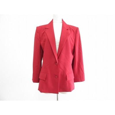 #apc レオナール LEONARD ジャケット 13AR 赤 大きいサイズ レディース [666242]