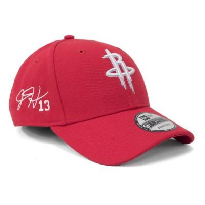 ジェームズ・ハーデン キャップ 帽子 ニューエラ New Era 9FORTY サイン刺繍 ロケッツ NBA レッド アジャスタブル
