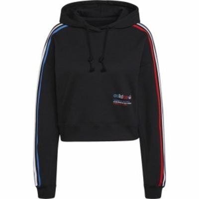 アディダス adidas Originals レディース パーカー トップス Hoodie Black