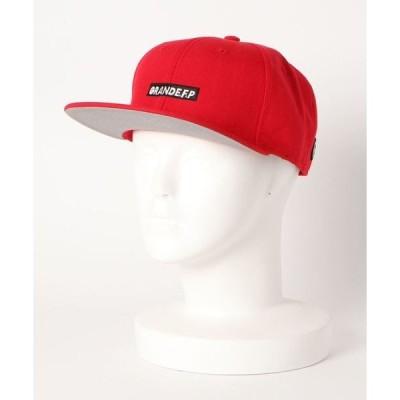 帽子 キャップ GRANDE F.P 刺繍フラットバイザーキャップ