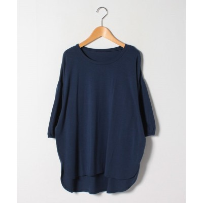 (A HAPPY MARILYN/アハッピーマリリン)ハッピーモイスチャー 夏の至福の カットソー ギャザー袖 Tシャツ/レディース ネイビー