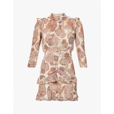 バッシュ BA&SH レディース ワンピース ミニ丈 ワンピース・ドレス Hydra floral-embroidered woven mini dress Vieuxrose