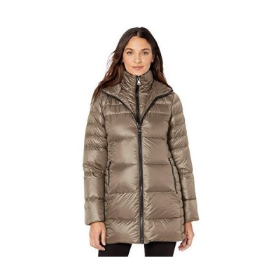 Vince Camuto Women's Warm and Lightweight Down Winter Jacket Coat, Taupe, S