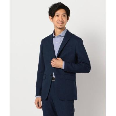 【フレディアンドグロスター】 バーズアイ ウォッシャブル セットアップ ジャケット メンズ ブルー XL FREDY&GLOSTER