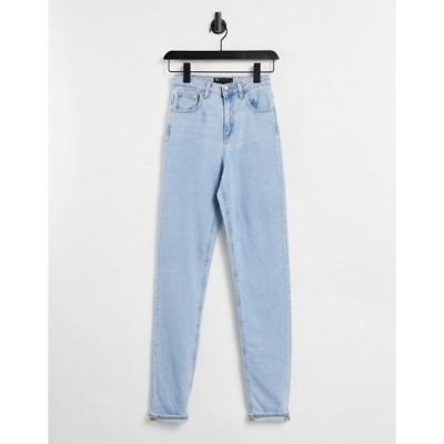 エイソス レディース デニムパンツ ボトムス ASOS DESIGN high rise farleigh 'slim' mom jeans in pretty lightwash