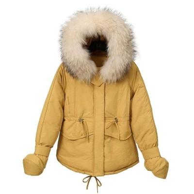 コート レディース 韓國 中綿コート ジャケット フード付き シルエット 防寒 カジュアル ゆったり
