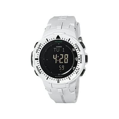 特別価格(カシオ) Casio メンズ PRG-300-7CR Pro Trekデジタル腕時計 ホワイトバンド好評販売中