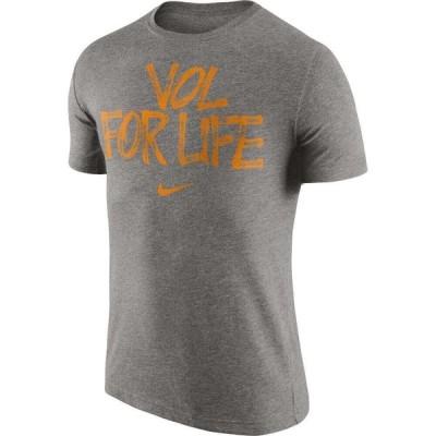 ナイキ Nike メンズ Tシャツ トップス Tennessee Volunteers Grey Vol For Life' Tri-Blend Verbiage T-Shirt