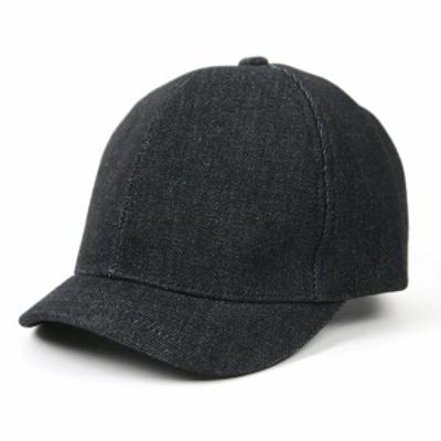 BIGWATCH正規品 大きいサイズ 帽子 メンズ デニムアンパイアキャップ ビッグワッチ 黒/ブラック/ビッグサイズ/無地 コットン キャップ シ