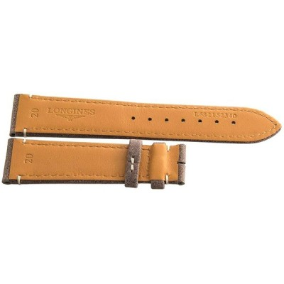Genuine Longines 20mm x 18mm Brown Leather Watch Band L682152340