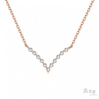 SOPHIA 蘇菲亞珠寶 - 貝拉套鍊 18K玫瑰金 鑽石項鍊