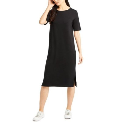 エイリーンフィッシャー レディース ワンピース トップス Round-Neck Shift DressRegular & Petite Sizes