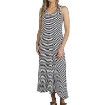 ムースジョー Moosejaw レディース ワンピース マキシ丈 ワンピース・ドレス Lakeside Maxi Dress Navy/White Stripe