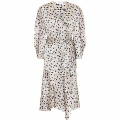 クロエ Chloe レディース ワンピース ラップドレス ワンピース・ドレス floral silk-satin wrap dress Multicolor