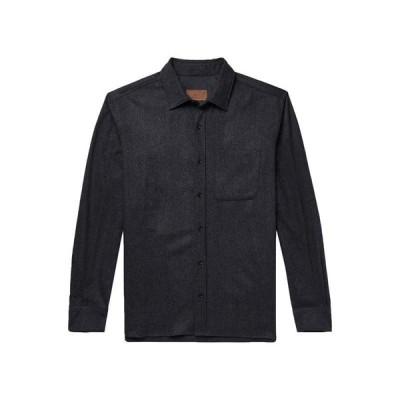 ALTEA 無地シャツ ファッション  メンズファッション  トップス  シャツ、カジュアルシャツ  長袖 ダークブルー