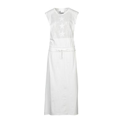 8PM ロングワンピース&ドレス アイボリー XS コットン 100% ロングワンピース&ドレス