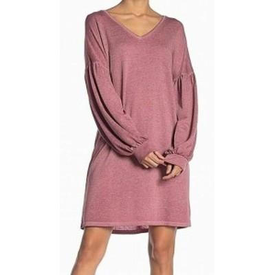 ファッション ドレス Como Vintage Womens Dress Purple Size XL Sweater V-Neck Long Sleeve