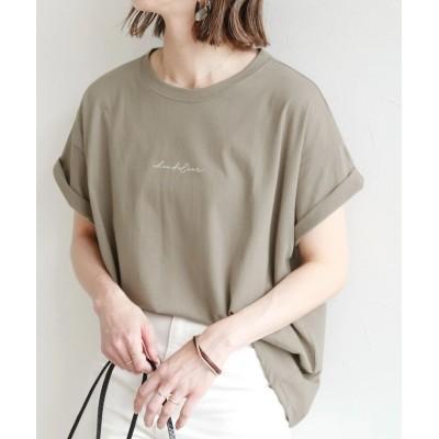 【レカ】 筆記体ロゴTシャツ(R21158-k) レディース グレージュ FREE reca