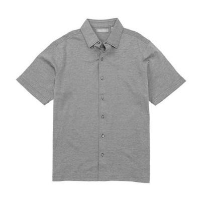ダニエル クレミュ メンズ シャツ トップス Daniel Cremieux Signature Solid Short-Sleeve Button-Front Knit Shirt