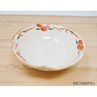 変形赤絵中鉢 4枚セット【和食器 ボウル サラダ鉢 煮物鉢 業務用】