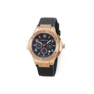 Champs & Co. Siam Men's CL4 3RG/BL1 Rose Gold Chronograph Watch 並行輸入品