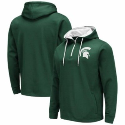 Colosseum コロセウム スポーツ用品  Colosseum Michigan State Spartans Green Performance Quarter-Zip Pullover Hoodie