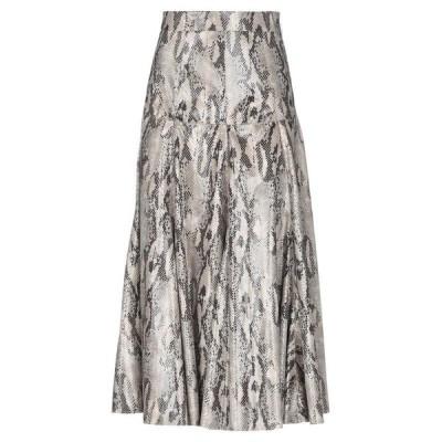 MSGM 七分丈スカート ファッション  レディースファッション  ボトムス  スカート  ロング、マキシ丈スカート サンド