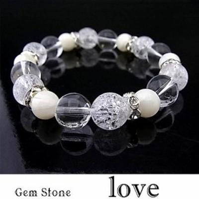 パワーストーン 天然石 ブレスレット 数珠 念珠 恋愛運 水晶 マザーオブパール