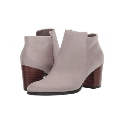 ECCO エコー レディース 女性用 シューズ 靴 ブーツ アンクル ショートブーツ Shape 55 Stacked Heel Ankle Boot - Moon Rock Nubuck Leather