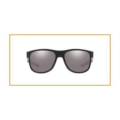 Oakley Men's OO9359 Crossrange R Square Sunglasses, Matte Black/Prizm Black, 57 mm_並行輸入品