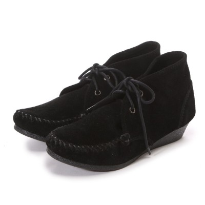 ミネトンカ MINNE TONKA CHUKKA WEDGE BOOTIE(Black)