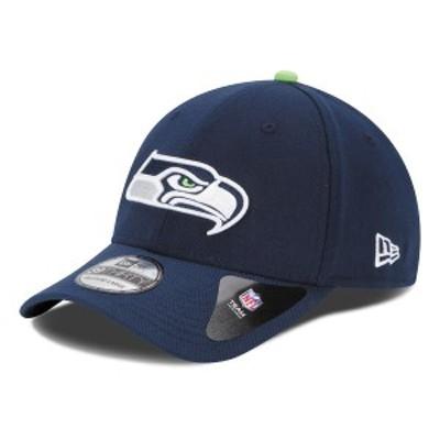 ニューエラ メンズ 帽子 アクセサリー Seattle Seahawks New Era 39THIRTY Team Classic Flex Hat College Navy