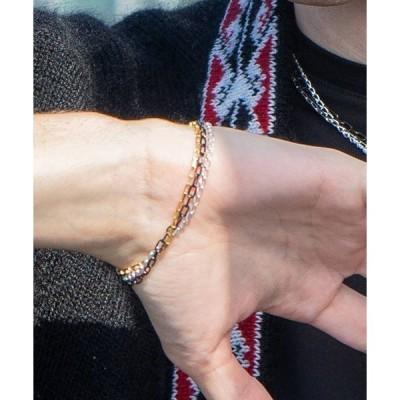 ブレスレット NARRATIVE PLATOON ナラティヴプラトゥーン / three-way deadlock bracelet チェーンブレスレ
