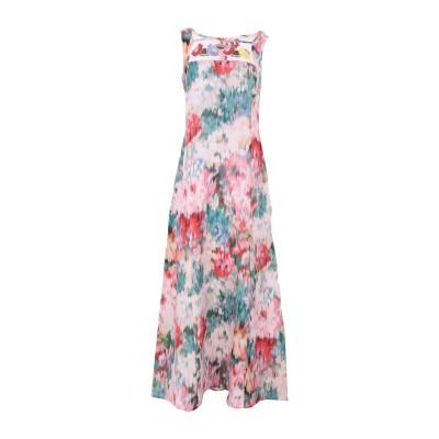 SAVE THE QUEEN ロングワンピース&ドレス ピンク M リネン 95% / ポリエステル 5% ロングワンピース&ドレス